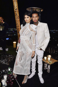 LOS ANGELES, CA - OCTOBER 23: Kylie Jenner and Tyga attend Olivier Rousteing & Beats Celebrate In Los Angeles at Private Residence on October 23, 2015 in Los Angeles, California. (Photo by Stefanie Keenan/Getty Images for Beats by Dre)